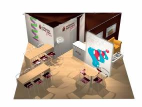Stand design avec Stand sur mesure 42m²