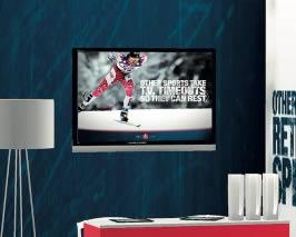 stand design sur mesure en tissu vue tv