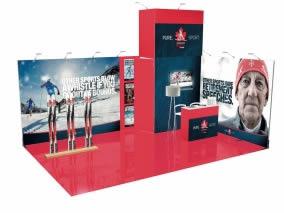 Stand design avec 24m² stand sur mesure-42