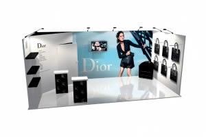 stand Dior rendu 3D