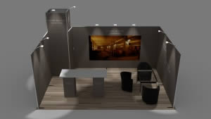stand Domaine Sol Payré rendu 3D vue de haut
