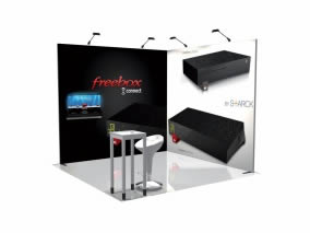 stand Freebox 3D