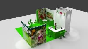 stand Gamme Vert rendu 3D