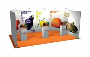stand Intermarché rendu 3D