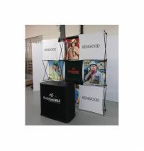 stand Kenwood avec comptoir de réception