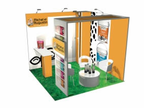 Stand modulaire avec 9m² stand reconfigurable-11