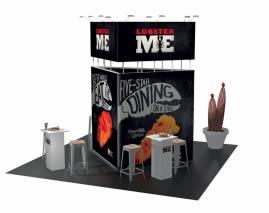 Stand design avec 25m² stand sur mesure-L-38