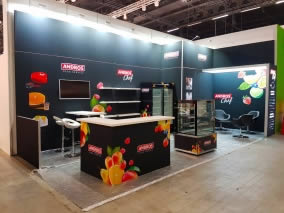 stand modulaire Andros avec TV