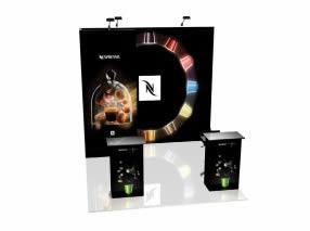 stand Nespresso rendu 3D