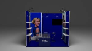 stand Nivea 9m2 vue de face 3D