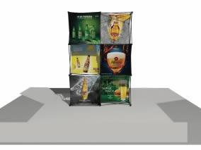 stand parapluie design Affligem - Heineken - Desperados