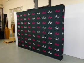 stand photocall transportable