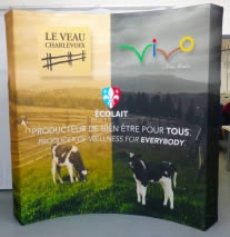 stand pliable courbe 3x3