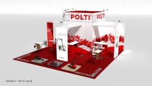 stand Polti avec arche et caisson lumineux 3D