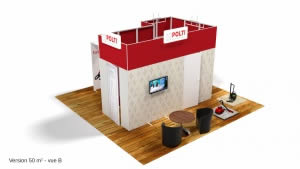 stand Polti version 50m2 vue B 3D