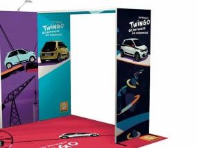 stand reconfigurable Renault Twingo vue arche