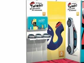 stand reconfigurable Renault Twingo vue étagère