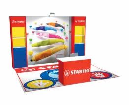 stand Stabilo rendu 3D