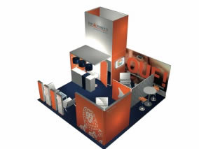 Stand design avec Stand sur mesure 36m²