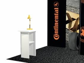 stand tissu Continental  Lyon avec comptoir
