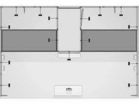 stand tissu reconfigurable avec arche lumineuse vue de haut