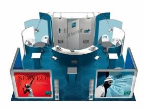 Stand design avec 42m² stand sur mesure-L-46