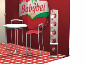 stand transportable Babybel vue perspective