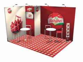Stand nomade avec Stand transportable 12m² avec remise