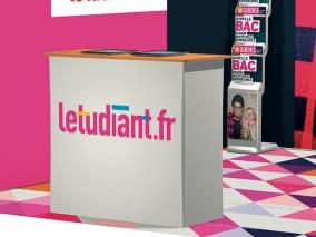 Stand transportable Letudiant.fr vue de côté