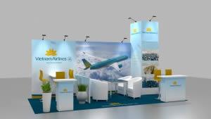 stand Vietnam Airlines rendu 3D