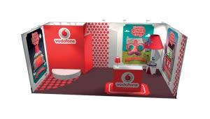 stand Vodafone rendu 3D