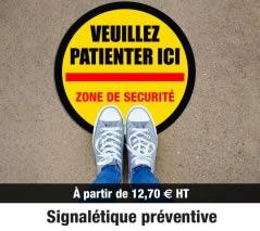 Signalétique préventive Covid 19