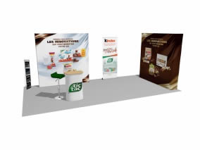 support de communication pour salon TIC TAC Ferrero