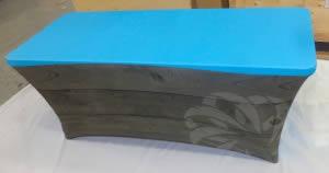 table rectangulaire légère en tissu habillable