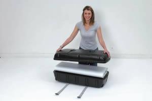 valise de transport de stand avec comptoir